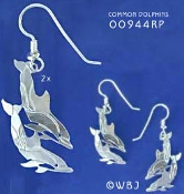 Double Dolphin Earrings