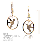 Hummingbird Feeding Earrings