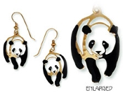 Hand Painted Panda Earrings