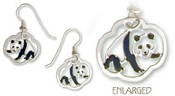 Hand Painted Chinese Panda Earrings