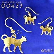 Walking Cat Earrings