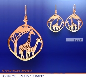 Small Double Giraffe Earrings