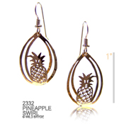 3-D Pineapple Earrings