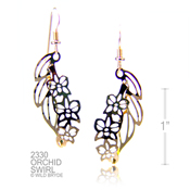 Wild Bryde 3-D Orchid Earrings