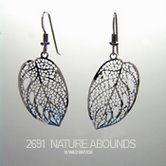 Wild Bryde Leaf Silhouette Earrings