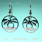 Wild Bryde Island Palm Earrings