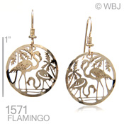 Flamingos Together Earrings