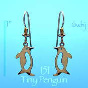 Tiny Penguin Earrings