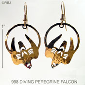 Diving Peregrine Falcon Earrings