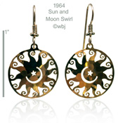 Sun and Moon Swirl Earrings