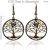 Tree in Moonlight Earrings
