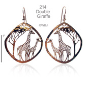 Large Double Giraffe Earrings