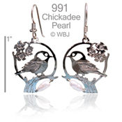 Chickadee Pearl Earrings