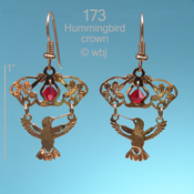 Hummer with Crown of Flowers Earrings