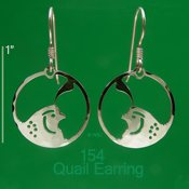 Quail Portrait Earrings