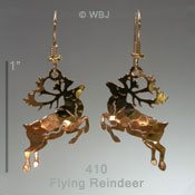 Flying Reindeer Earrings