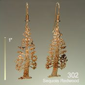 Wild Bryde Sequoia Redwood Earrings