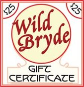 Wild Bryde Jewelry $25 Gift Certificate