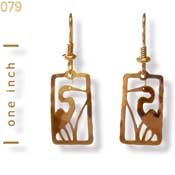 Small Egret Earrings