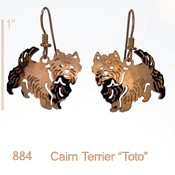"Cairn Terrier ""Toto"" Earrings"