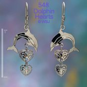 Dolphin Hearts Earrings
