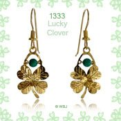 Wild Bryde Lucky Four Leaf Clover Earrings