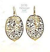Patterned Leaf Earrings