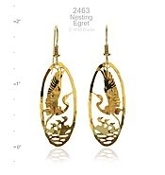 Nesting Egret Earrings