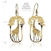 Giraffe with Spots Earrings