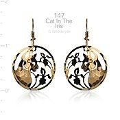 Wild Bryde Jewelry Cat in Iris Earrings