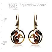 Wild Bryde Jewelry Squirrel with Acorn Earrings
