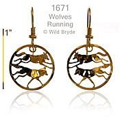 Running Wolves Earrings