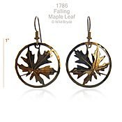 Maple Leaf in Circle Earrings