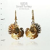 Small Thanksgiving Turkey Earrings