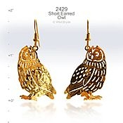 Short Eared Owl Earrings