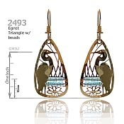 Beaded Egret Earrings