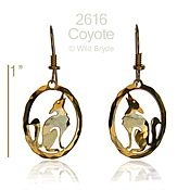 Howling Coyote Earrings