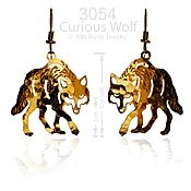 Curious Wolf Earrings