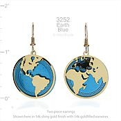 Wild Bryde Jewelry Earth and Ocean Earrings