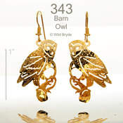 Barn Owl Earrings
