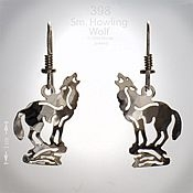 Small Howling Wolf Earrings