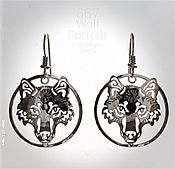 Wolf Portrait Earrings