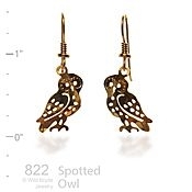 Spotted Owl Earrings
