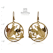Swimming Loon Earrings